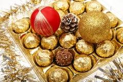 Presente do chocolate do Xmas fotos de stock royalty free