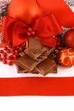 Presente do chocolate do Xmas imagem de stock