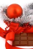 Presente do chocolate do Xmas foto de stock