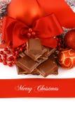 Presente do chocolate do Xmas fotografia de stock