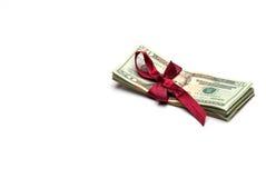 Presente do conceito do dinheiro Imagens de Stock