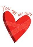 Presente do coração Imagens de Stock Royalty Free