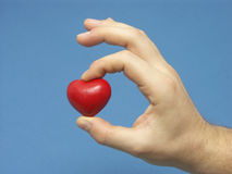 Presente do coração Imagens de Stock