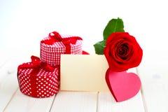 Presente do dia de Valeintines Foto de Stock