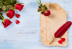 Presente do dia de Valentim fotografia de stock