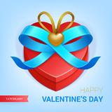 Presente do dia de Valentim Fotos de Stock