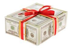 Presente do dinheiro Fotografia de Stock Royalty Free