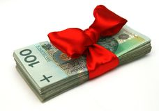 Presente do dinheiro Imagens de Stock