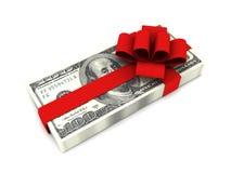 Presente do dinheiro Imagem de Stock