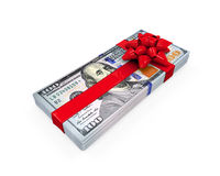 Presente do dinheiro Fotos de Stock