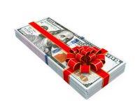 Presente do dinheiro isolado Foto de Stock