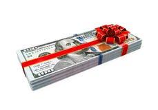 Presente do dinheiro isolado Fotos de Stock