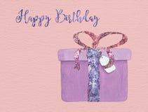 Presente do feliz aniversario Fotografia de Stock Royalty Free