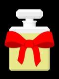Presente do frasco de perfume ilustração stock