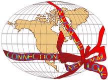 Presente do mapa dos EUA ilustração do vetor