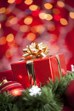 Presente do Natal Fotografia de Stock Royalty Free
