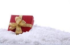 Presente do Natal com Cópia-Espaço Foto de Stock Royalty Free