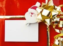 Presente do Natal com cartão vazio Imagem de Stock Royalty Free
