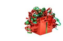 Presente do Natal com trajeto de grampeamento Fotografia de Stock Royalty Free