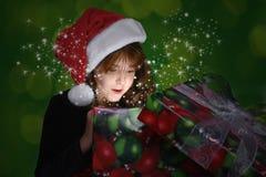 Presente do Natal completamente da surpresa Imagens de Stock Royalty Free