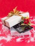 Presente 2015 do Natal da tabuleta o melhor Imagem de Stock