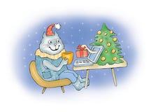 Presente do Natal do Internet Fotografia de Stock Royalty Free