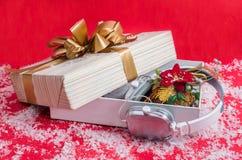 Presente 2015 do Natal dos fones de ouvido o melhor Fotografia de Stock Royalty Free