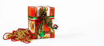 Presente do Natal e do ano novo Imagens de Stock Royalty Free