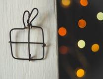 Presente do Natal feito do fio Foto de Stock