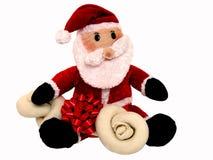 Presente do Natal para o filhote de cachorro fotografia de stock