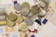 Presente do turista com dinheiro fotos de stock royalty free