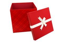 Presente do vermelho isolado Fotos de Stock Royalty Free