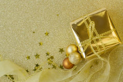 Presente e decorações do Natal Imagem de Stock Royalty Free