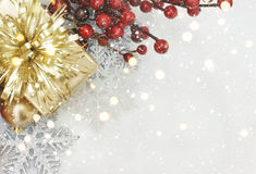 Presente e decorações do Natal Foto de Stock Royalty Free