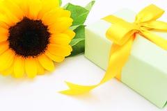 Presente e flor Fotos de Stock