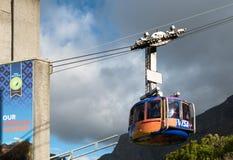 Presente el Mountain View con el teleférico en Cape Town, Suráfrica Fotografía de archivo libre de regalías