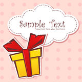 Presente el rectángulo de regalo con la cinta Imagen de archivo libre de regalías