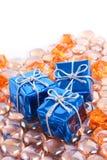Presente em gemas Foto de Stock Royalty Free