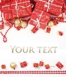 Presente en blanco Imagen de archivo libre de regalías
