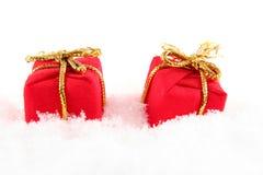 Presente en nieve Fotografía de archivo libre de regalías