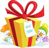 Presente engraçado do Natal isolado Foto de Stock Royalty Free