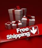 Presente, envío gratis Imágenes de archivo libres de regalías