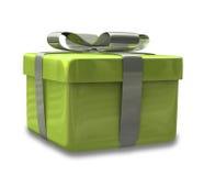 Presente envolvido 3D v3 do verde do ouro Imagem de Stock Royalty Free