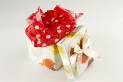 Presente envuelto del rectángulo de regalo Imágenes de archivo libres de regalías