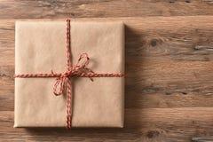 Presente envuelto llano Foto de archivo libre de regalías