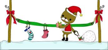 Presente especial de Santa ilustração do vetor