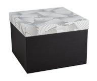 Presente fechado desempacotado do papel da decoração da caixa de presente isolado Imagem de Stock Royalty Free