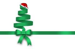 Presente, fita verde, laço verde, curva ilustração do vetor
