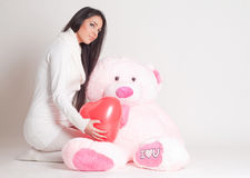 Presente il giorno del biglietto di S. Valentino Fotografia Stock