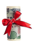Presente japonês do dinheiro Fotografia de Stock Royalty Free
